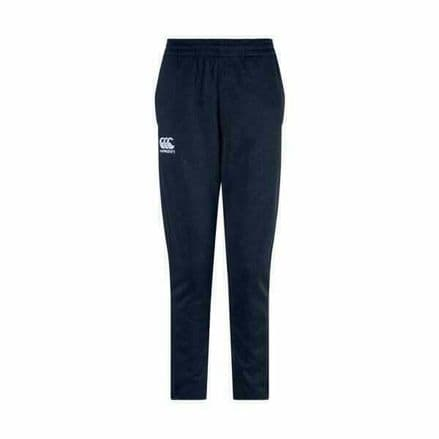 CANTERBURY RUGBY NAVY STRETCH TAPERED POLY KNIT PANTS - KIDS TROUSERS